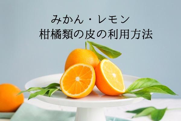 みかん・レモン 柑橘類の皮の利用方法