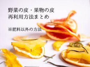 野菜の皮 果物の皮 利用方法