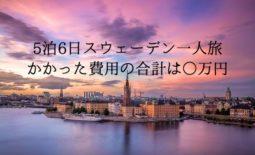 5泊6日スウェーデン一人旅の旅費は○万円│かかった費用を公開